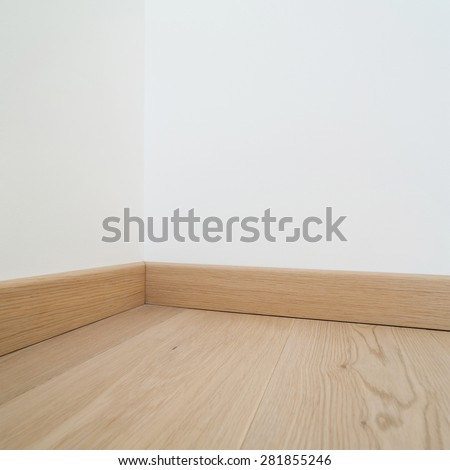 Interior, floor of a modern house, copy space - stock photo