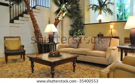 Interior Formal Living Room - stock photo
