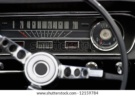 Interior from a american car - stock photo