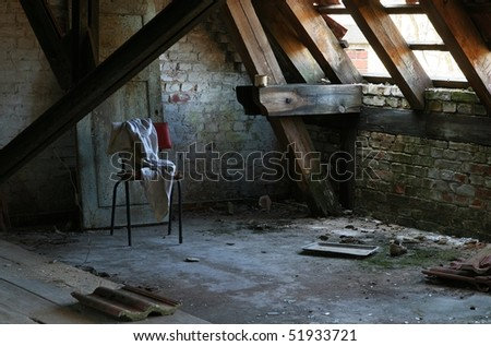 Interior from the famous abandoned Hospital Complex in Beelitz, Berlin, Germany (V-Format ID 80380000) - stock photo