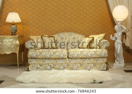 interior furniture sofa and lamps. see more on my page - stock photo
