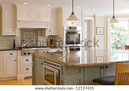 interior kitchen - stock photo