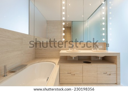Interior modern bathroom - stock photo