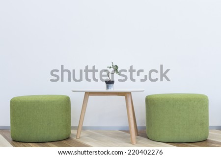 interior modern  design chair and table - stock photo