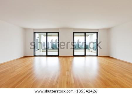 interior modern empty flat, apartment nobody inside - stock photo