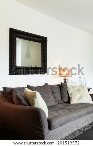 interior modern house, beautiful decor - stock photo