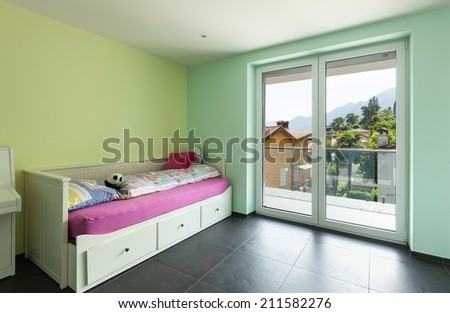 interior modern house, guest room