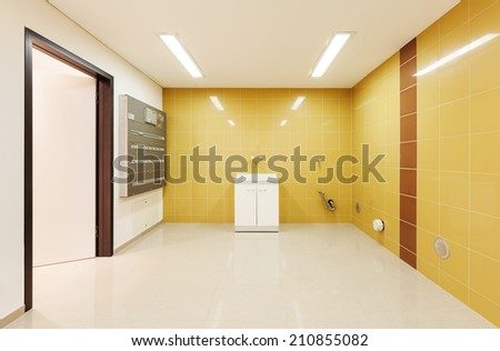 Interior modern house, wide room,  laundry - stock photo