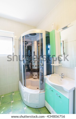 Interior of a bathroom in a guest house