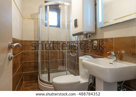 Interior of a bathroom in a private house