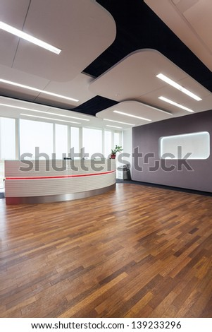 Interior of a business center and reception - stock photo