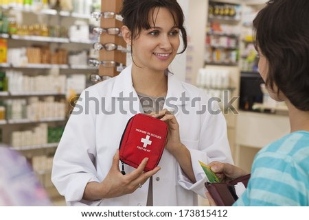 Interior Of A Chemist'S Shop - stock photo