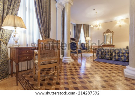 Interior of a classic style luxury room - stock photo