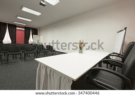 Interior of a conference room - stock photo