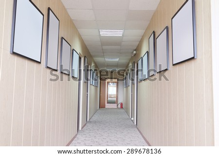 Interior of a corridor of hotel^ hospital and so on - stock photo