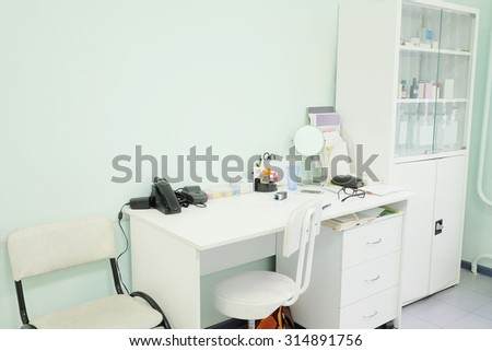 Interior of a doctor office - stock photo