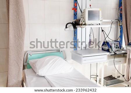 Interior of a hospital  ward - stock photo