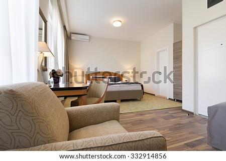 Interior of a hotel apartment - stock photo
