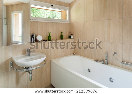 Interior of a house, bathroom view - stock photo