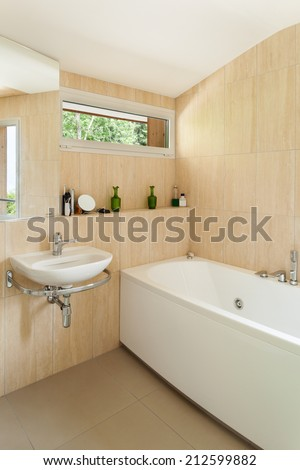 Interior of a house, bathroom view