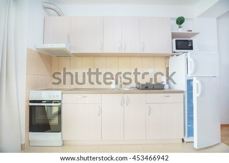 Interior of a  kitchen in a guest house