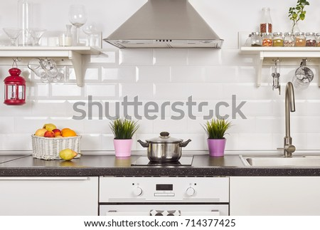 Interior Light Kitchen Apartment Bright Home Stockfoto Lizenzfrei Impressive Interior Items For Home