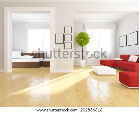 interior of a living-room - stock photo