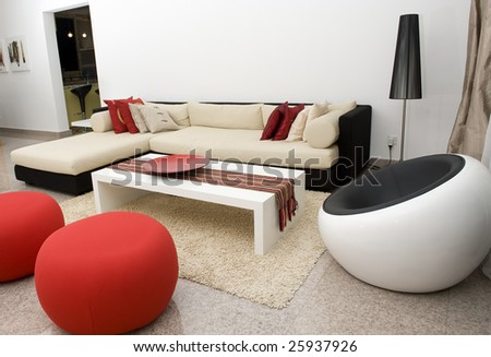 Interior of a living room