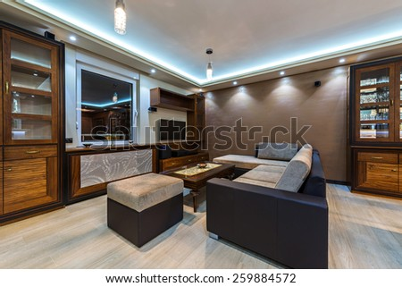 Interior of a luxury  - stock photo