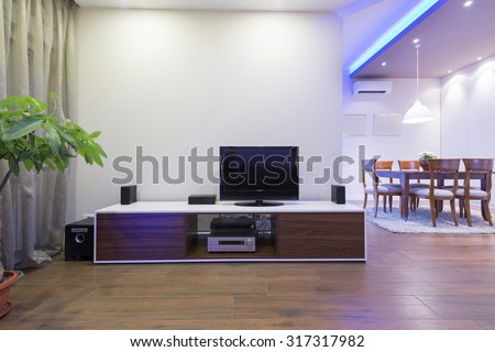 Interior of a luxury apartment - stock photo