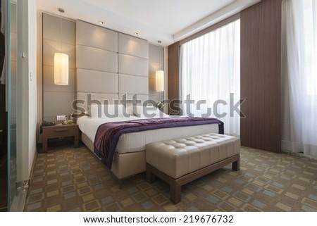 Interior of a luxury bedroom  - stock photo