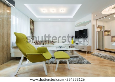 Interior of a luxury living room - stock photo
