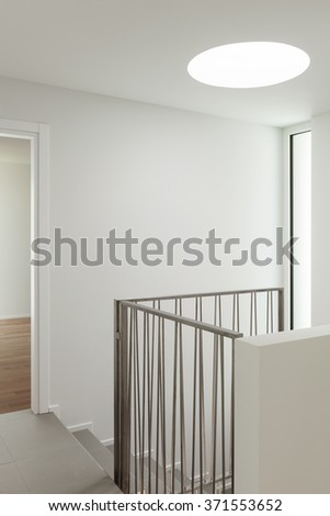 interior of a modern apartment, view from the corridor - stock photo