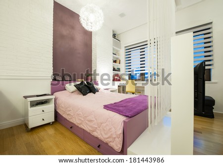 Interior of a modern bedroom