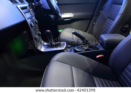 Interior of a modern car - stock photo