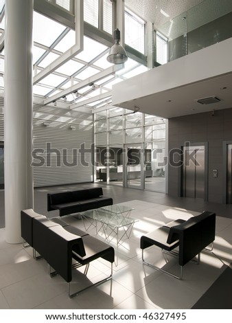 interior of a modern lobby - stock photo