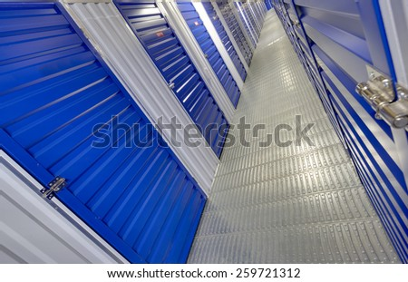 Interior of a modern warehouse ,clean and empty - stock photo