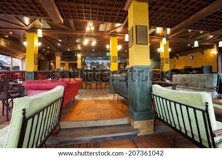 Interior of a pub  - stock photo