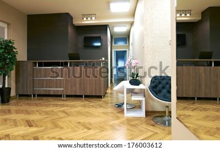 Interior of a reception room - stock photo