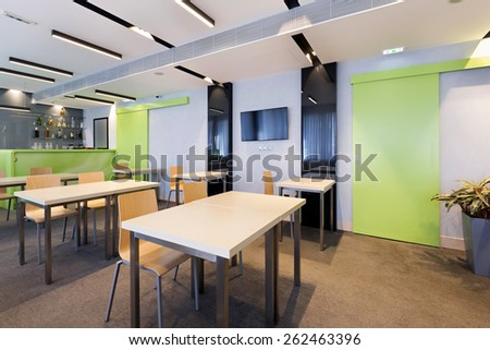 Interior of a room for seminars