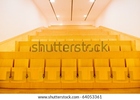 Interior of a school auditorium for students