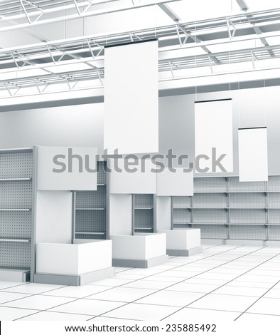 interior of a store - stock photo