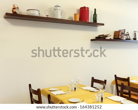 interior of a typical restaurant  - stock photo