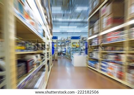 interior of a warehouse  - stock photo