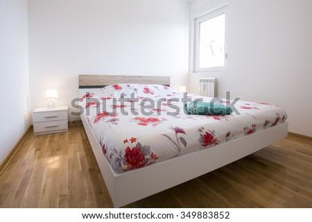 Interior of an elegant bedroom - stock photo