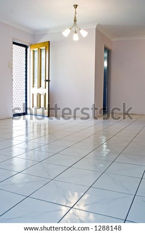 interior of an empty home - stock photo