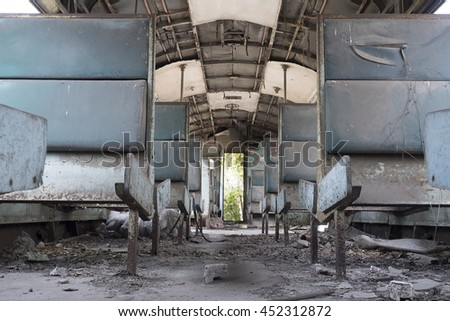 Interior of an old locomotives