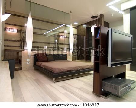 interior of apartment - stock photo