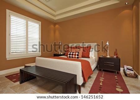 Interior of Bedroom - stock photo