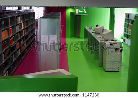 Interior of Brandenburg Technical University Library - stock photo